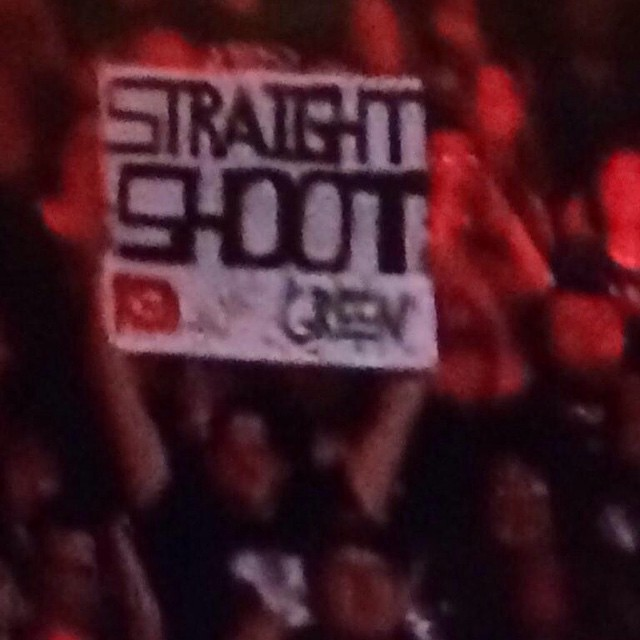 #STRAIGHTSHOOT SOCIETY member @robking54 repping The World's Smartest Rasslin Talk Show at Raw last night!